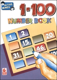 Active Minds 1-100 Number Book