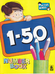 Active Minds 1-50 Number Book